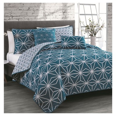 Blue Emery Quilt Set (King)5pc