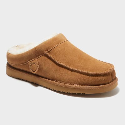 Men's dluxe by dearfoams Lith Genuine Shearling Clog Loafer Slippers