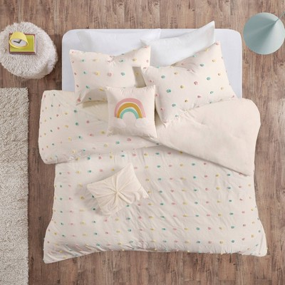Kelsey Cotton Jacquard Pom Pom Comforter Set