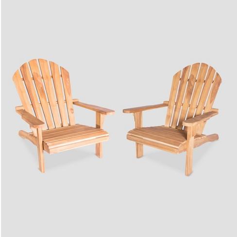 Redondo 2pk Teak Wood Adirondack Chair - LuXeo - image 1 of 4