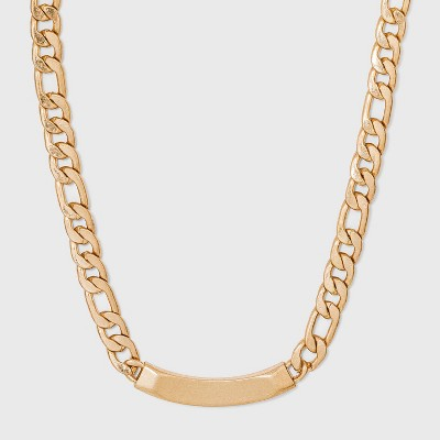 Curb Chain and Bar Necklace - Universal Thread™