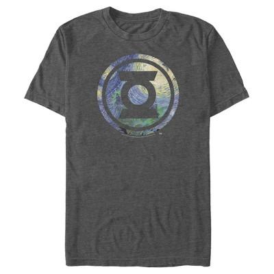 Men's Justice League Green Lantern Starry Night Logo T-Shirt