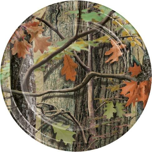 24ct Hunting Camo Dessert Plates Brown - image 1 of 2