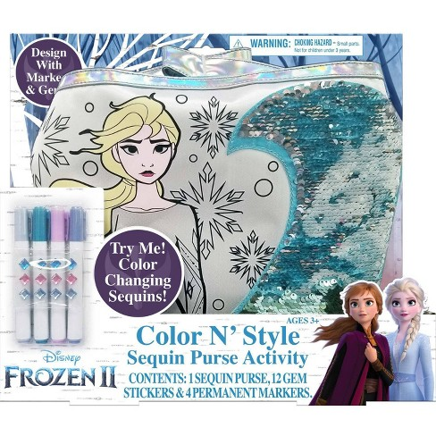 Disney Frozen 2 Color and Style Sequin Purse Activity Set - image 1 of 4
