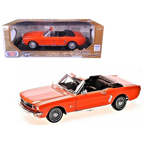 1964 1 2 Ford Mustang Convertible Orange Timeless Clics 18 Cast Model Car By Motormax Target