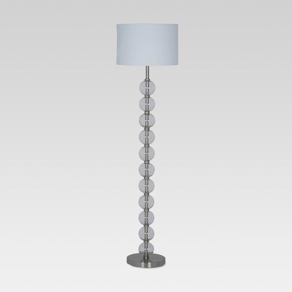 Glass Stacked Ball Floor Lamp Clear (Includes Energy Efficient Light Bulb) - Project 62, Gray Clear