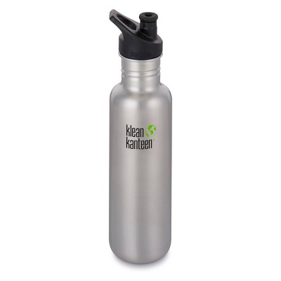 Klean Kanteen 27oz Classic Bottle with Loop Cap - Brushed Stainless