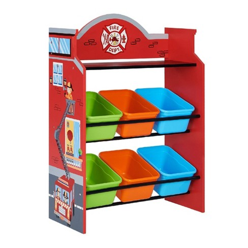 Little Firefighter Fantasy Fields Toy Organizer with Storage Bins - Teamson Kids - image 1 of 4
