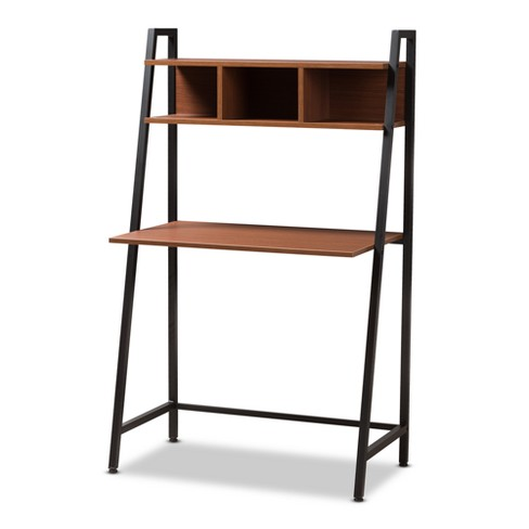 Ethan Rustic Industrial Style Wood and Metal Desk Brown, Black - Baxton Studio - image 1 of 6