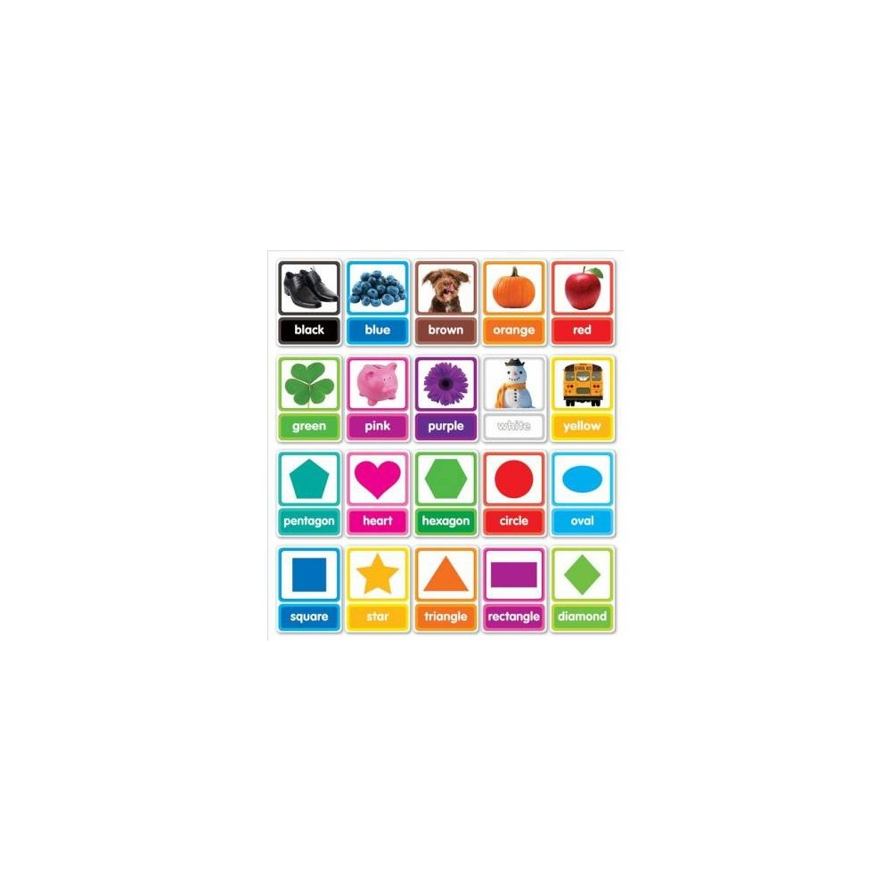 Colors & Shapes in Photos Bulletin Board - Chrt/Pap (Paperback)