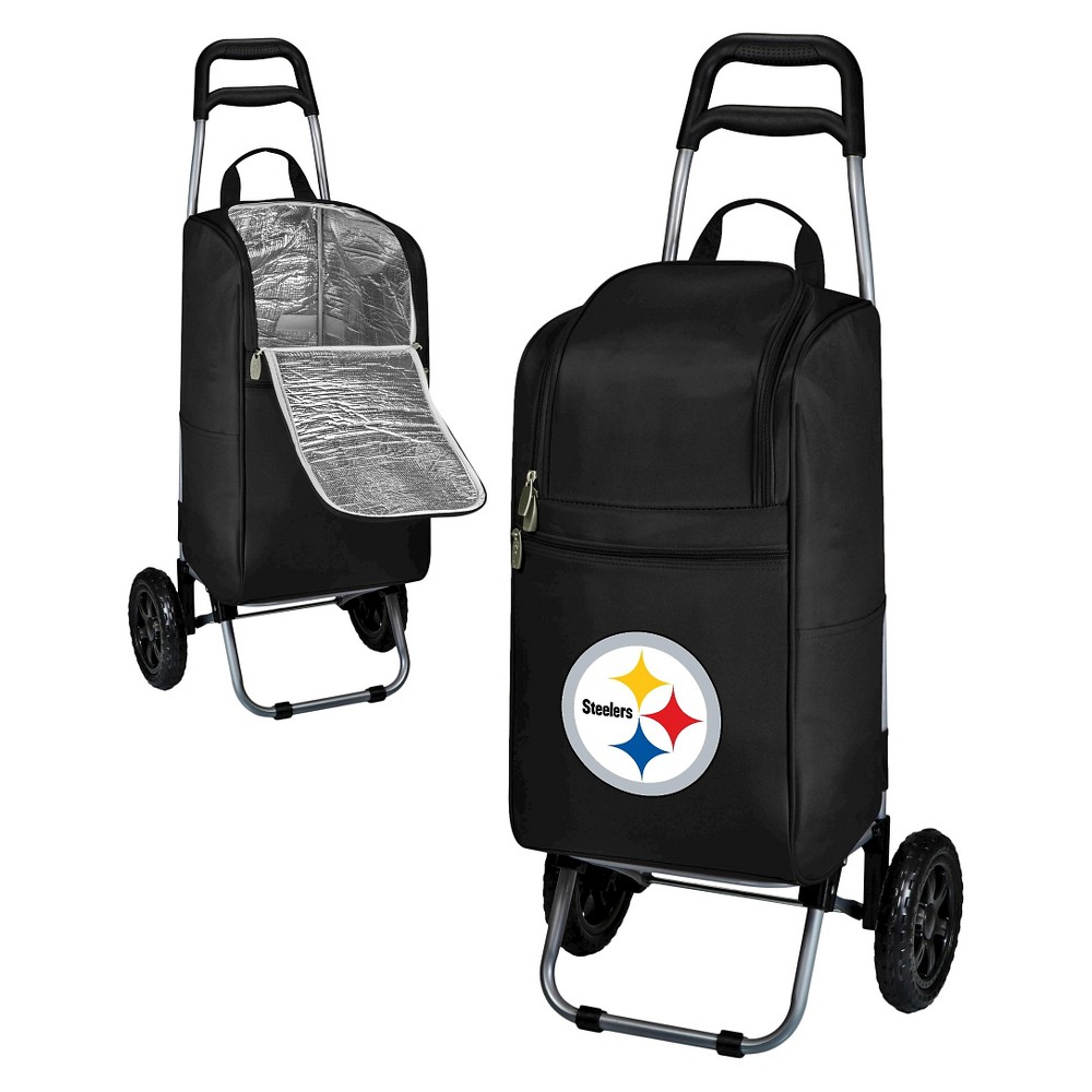 Pittsburgh Steelers Cart Cooler By Picnic Time Black