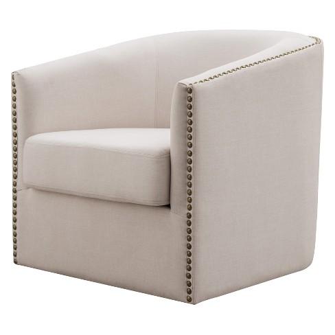 Luna Swivel Upholstered Accent Chair Mibasics Target