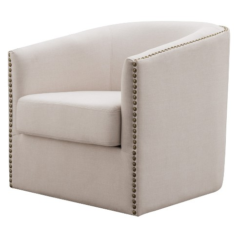 Luna Swivel Upholstered Accent Chair - miBasics - image 1 of 4