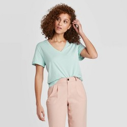 Women's Short Sleeve V-Neck Casual Cuff T-Shirt - A New Day™