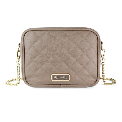 Itzy Ritzy Double Take Crossbody Diaper Bag - Taupe