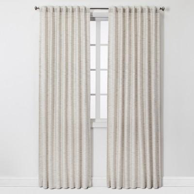 "108""x54"" Striation Herringbone Light Filtering Window Curtain Panel Cream/Blue - Project 62™"