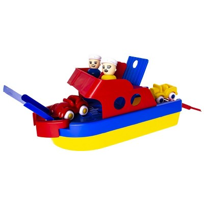 Viking Toys Jumbo Ferry Boat -  Primary Colors - Durable and Safe to Float on Water or Roll on Land
