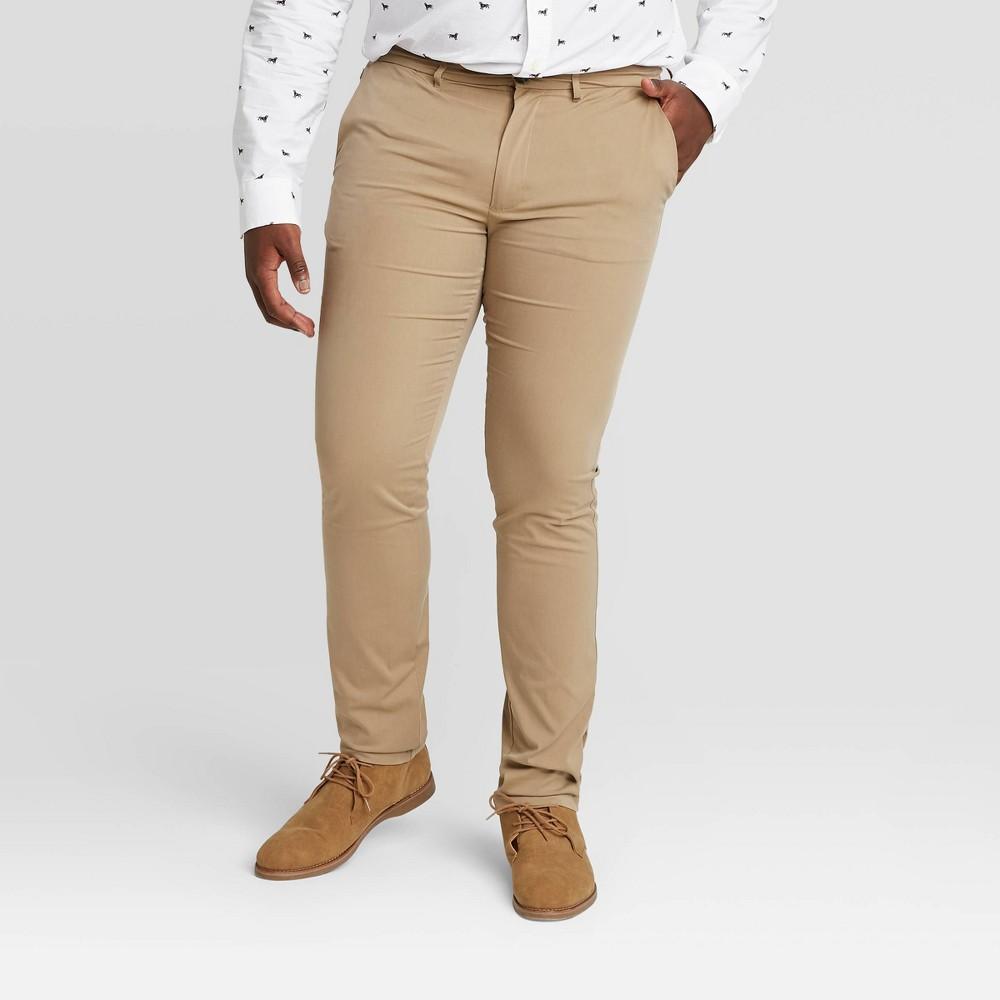 Men 39 S Tall Skinny Fit Hennepin Tech Chino Pants Goodfellow 38 Co 8482 Beige 34x36