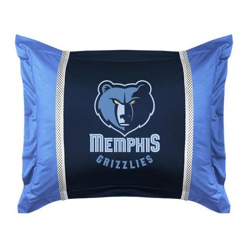 Nba Pillow Sham Basketball Team Logo Bedding Pillow Cover Memphis Grizzlies Target
