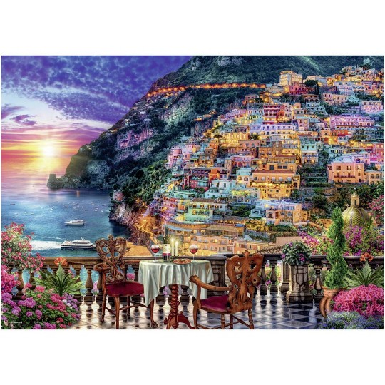 Ravensburger Dinner in Positano Puzzle 1000pc, Adult Unisex image number null