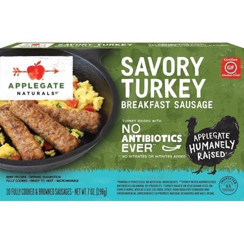 Applegate Natural Savory Turkey Breakfast Sausage, Frozen - 7oz - image 1 of 3