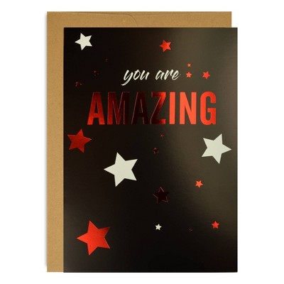 "3ct ""You are Amazing"" Encouragement Cards Black"