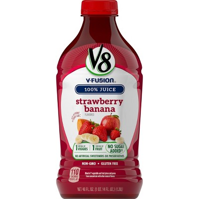 V8 V-Fusion Strawberry Banana Vegetable & Fruit Juice - 46 fl oz Bottle