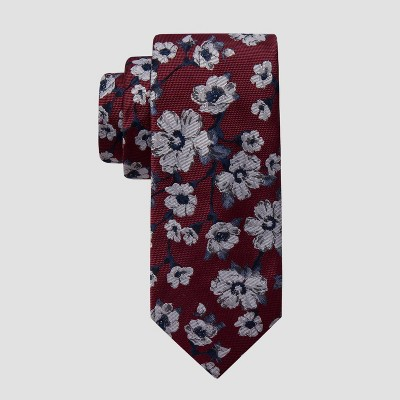 Men's Floral Helms Print Tie - Goodfellow & Co™ Red