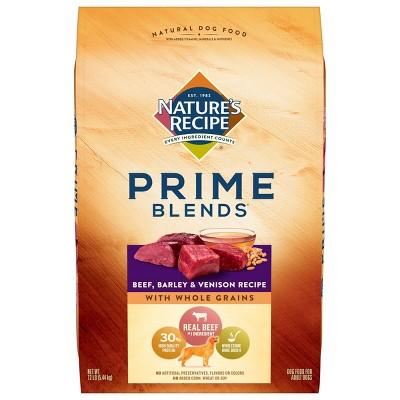 Nature's Recipe Prime Blends Beef, Barley & Venison Recipe Adult Dry Dog Food
