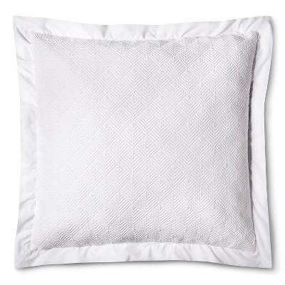 Matelasse Euro Pillow - White - Fieldcrest™