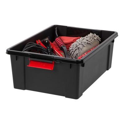 Genial Heavy Duty Plastic Storage Bin, Black : Target