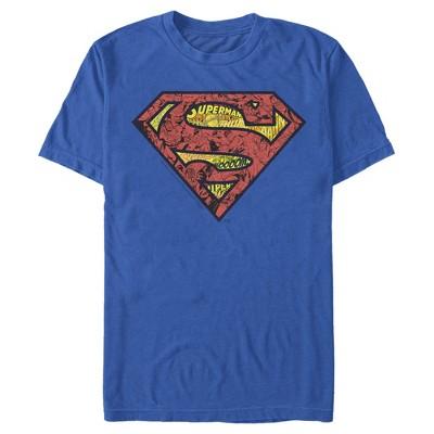 Men's Superman Logo Collage T-Shirt