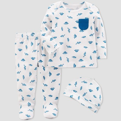 Baby Boys' 3pc Dino Set - little planet™ organic by carter's® White 9M