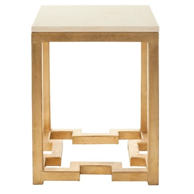 Ray Side Table Gold/Ivory - Safavieh®