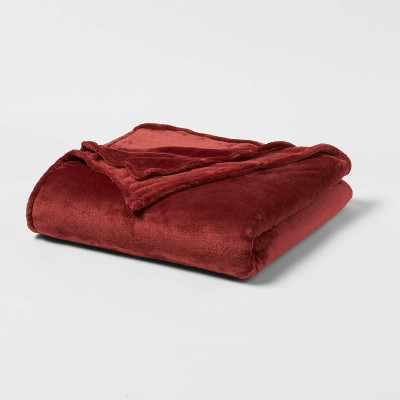King Microplush Bed Blanket Red - Threshold™