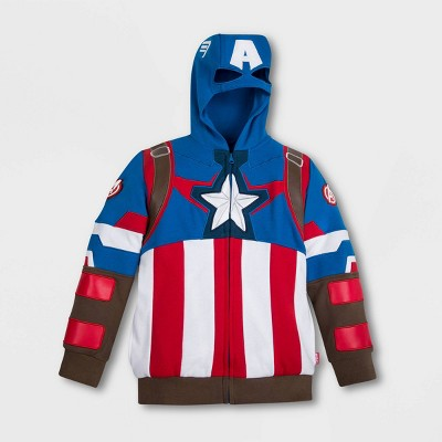 Boys' Disney Captain America Activewear Sweatshirt - Blue/Red - Disney Store