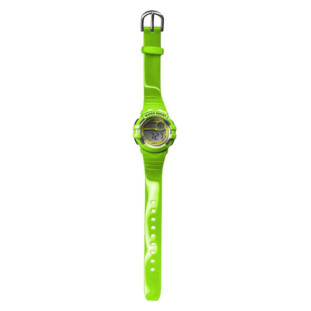 Image of Girls' Dakota Light Up Dial Digital Diver Watch - Lime, Girl's, Size: Small, Green