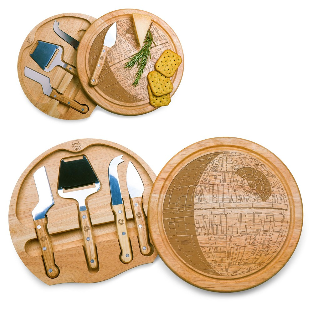 Star Wars Death Star Circo Wood Cheese Board With Tool Set By Picnic Time
