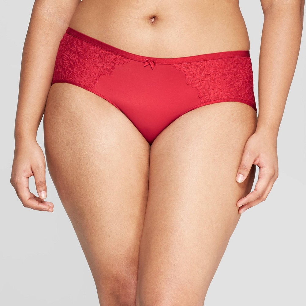 Women's Bonded Micro Hipster with Lace - Auden Ripe Red M