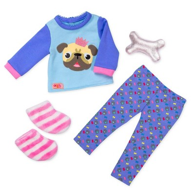 """Our Generation Regular Pajama Outfit for 18"""" Dolls - Pug-jama Party"""
