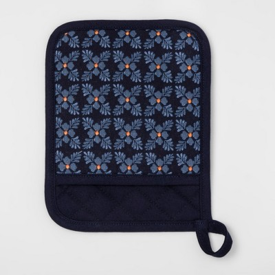 Blue Floral Pot Holder - Threshold™