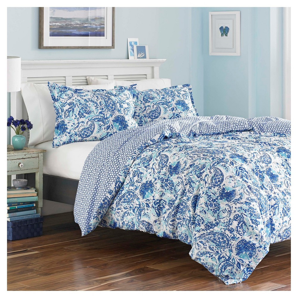 Image of Blue Brooke Comforter Set (King) - Poppy & Fritz