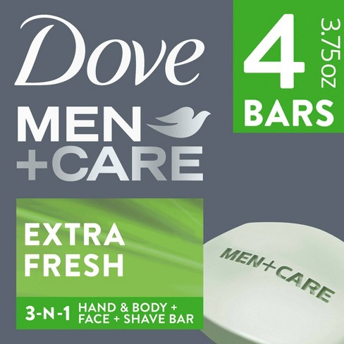 DoveMen+Care Extra Fresh Body and Face Bar Soap - image 1 of 4