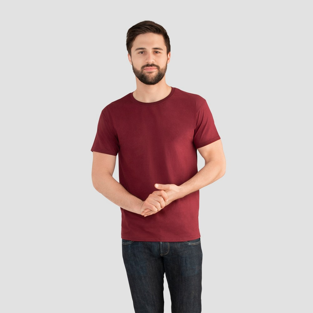 Fruit of the Loom Select Men's Short Sleeve T-Shirt - Cranberry Zing XL