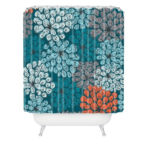 Khristian A Howell Greenwich Gardens Shower Curtain Blue - Deny Designs - image 1 of 2