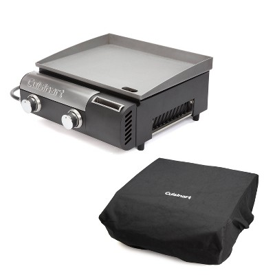 Cuisinart Gourmet CGB-043 Two Burner Gas Griddle Bundle with Grill Cover & Grill Tote