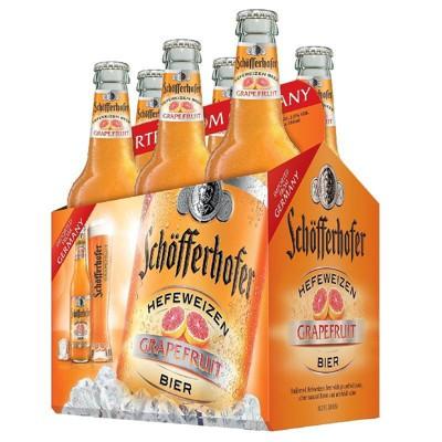 Schofferhofer Grapefruit Hefeweizen Beer - 6pk/12 fl oz Bottles