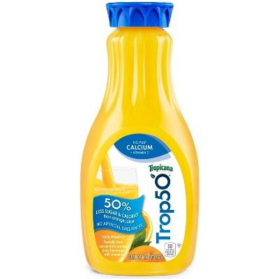 Tropicana Trop50 Calcium & Vitamin D No Pulp Orange Juice - 52 fl oz