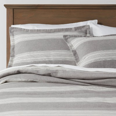 Chambray Yarn Dye Stripe Duvet & Sham Set - Threshold™