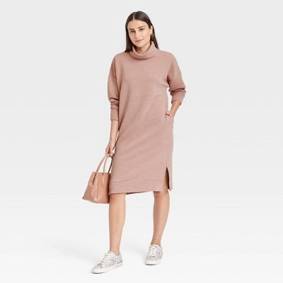 Women's Long Sleeve Knit Dress - A New Day™